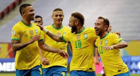 Seleção confirmou favoritismo e venceu por 3 a 0, com gols de Marquinhos, Neymar e Gabriel