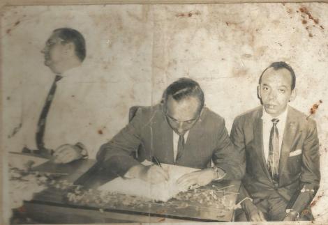 Da esquerda para a direita: Severino Gomes, Aristeu Uchoa e Simeão Cananeia