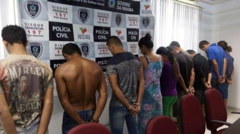 Suspeitos presos
