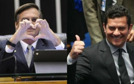 Jair Bolsonaro quer o juiz Sérgio Moro no STF, segundo presidente nacional do PSL. (iG Arte | Gabriela Korossy/Câmara dos Deputados | Agência Brasil)