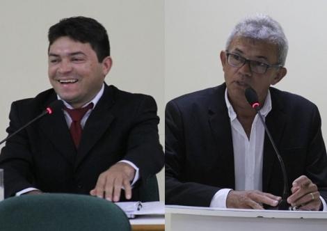 Líder da oposição, Nicodemos Costa (PSL) e o líder do governo, Paulo Brito (PSB)