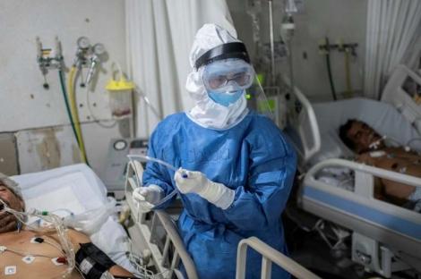Unidade de terapia intensiva para pacientes com COVID-19 em hospital em Atizapán, México, em 22 de maio de 2020. (PEDRO PARDO)