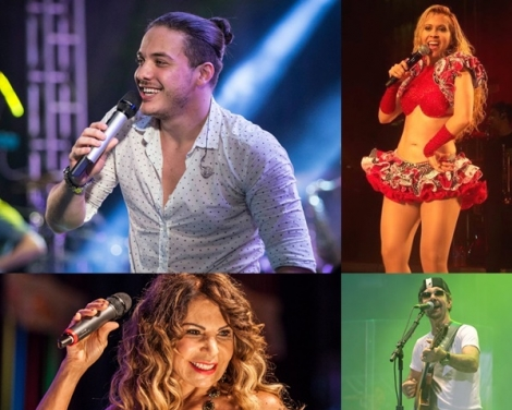 Wesley Safadão é atração nas festas de CG e Patos. Joelma, Elba Ramalho e Nando Cordel também se apresentam